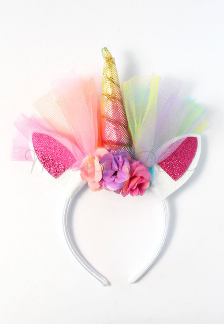 Unicorn Horn Metallic Glittery Kids Headband