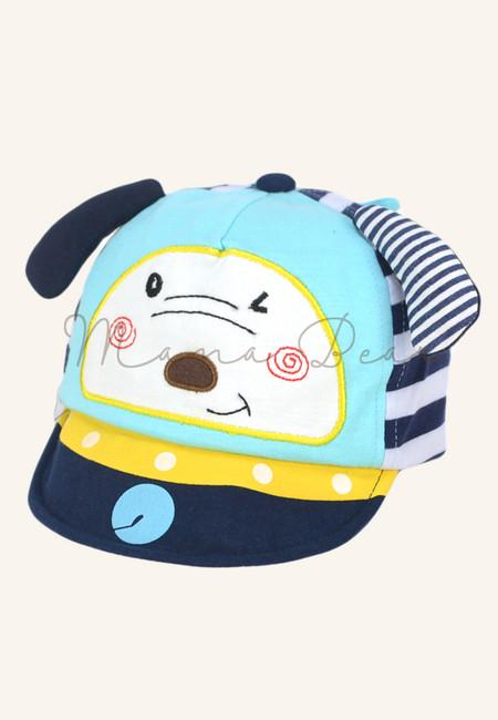 Cute Dog Stripe Cap