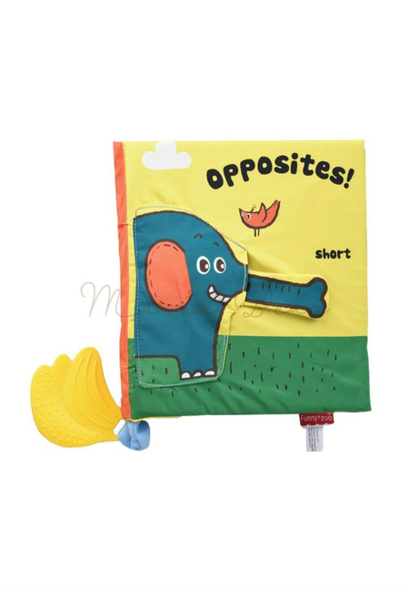 Learn Opposites Children Baby Soft Cloth Book