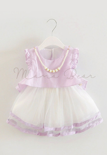 Lovely Eyelet Flutter Kids Dress