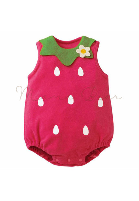 Strawberry Sleeveless Babysuit