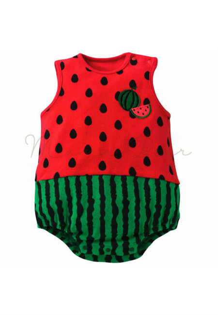 Watermelon Sleeveless Babysuit
