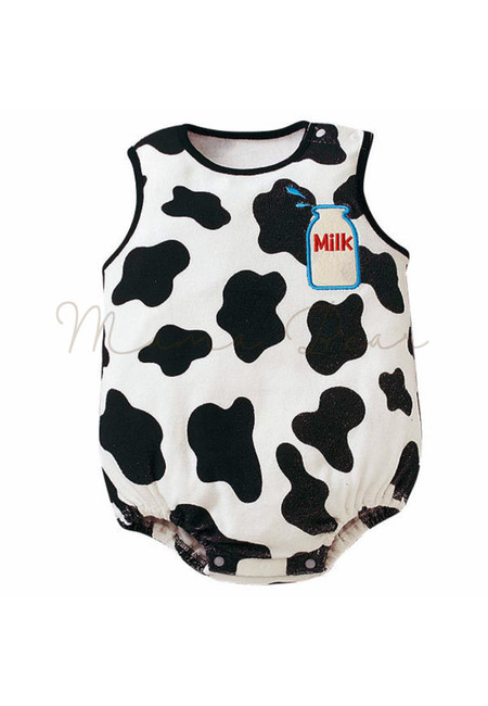 Cute Cow Sleeveless Babysuit