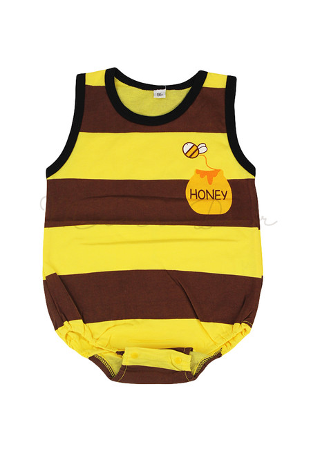 Honey Bee Sleeveless Babysuit