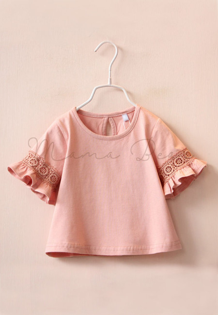 Simple Cut out and Frilled Sleeve Blouse