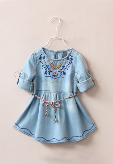 Bohemian Inspired Denim Kids Dress