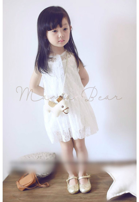 Casual Floral Lace with Inner Kids Dress