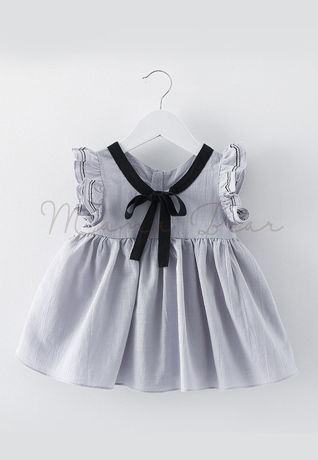 Lovely Ribbon Sleeveless Kids Dress