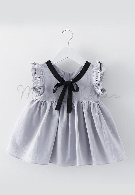 Lovely Ribbon Sleeveless Kids Dress