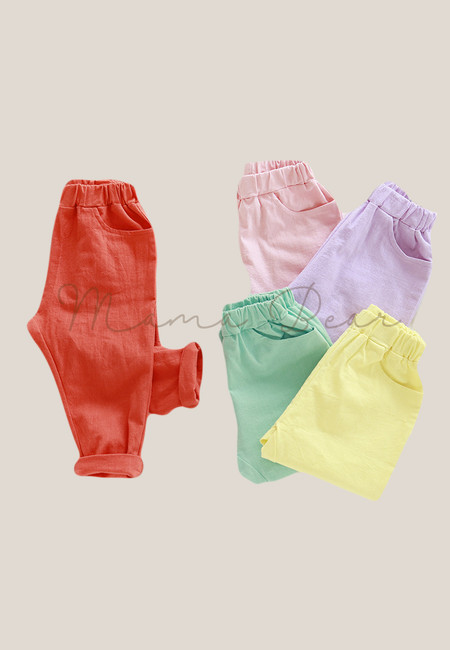 Soft Candy Colored Kids Pants