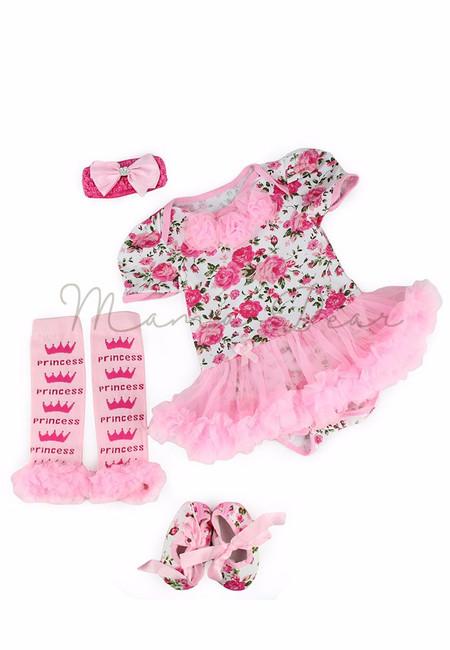 Princess Floral Baby Tutu Set