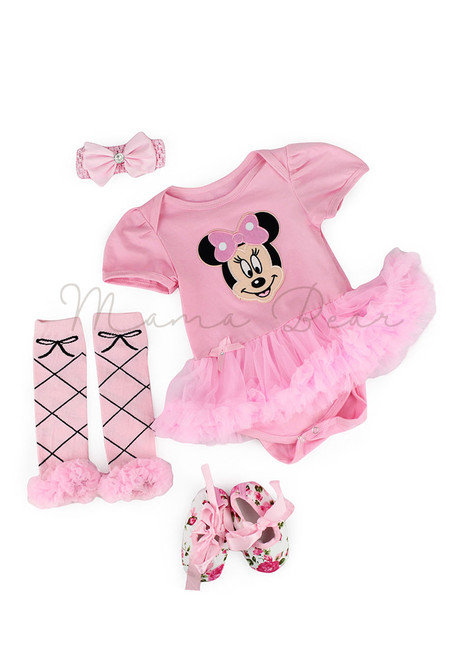 Pink Minnie Mouse Baby Tutu  Set