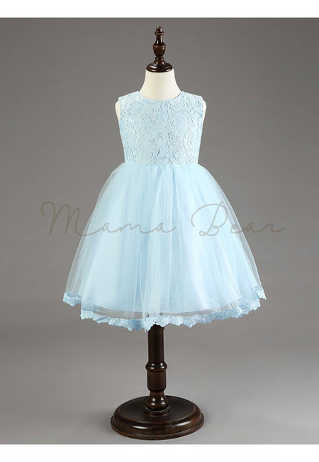 Lace Bowknot Princess Dress Ball Gown