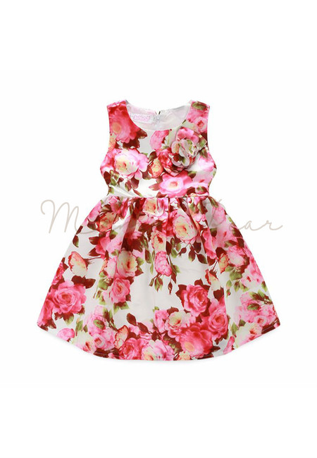Cute Floral Print Sleeveless Dress