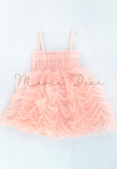 Pleated Ruffle Chiffon Baby Dress