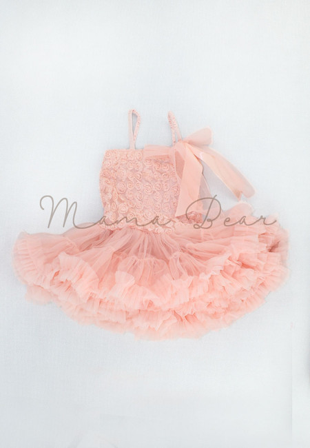 Ribbon Roses Baby Tutu Dress