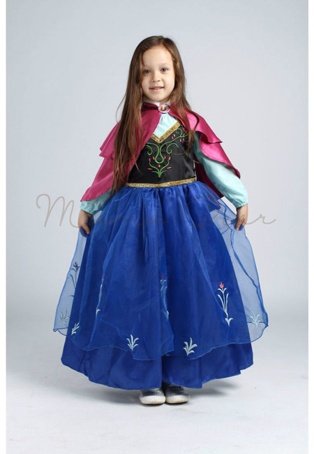Princess Anna With Fur Cloak Kids Costume