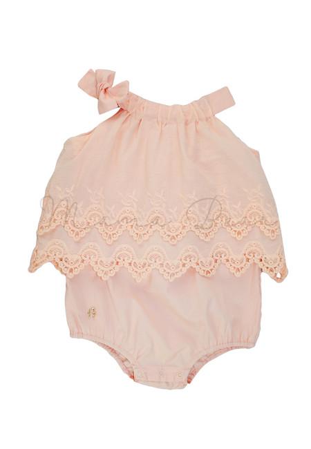Fancy Lace Sleeveless Babysuit