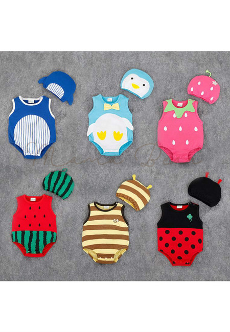 Fruits And Animals Like Kids Bodysuit