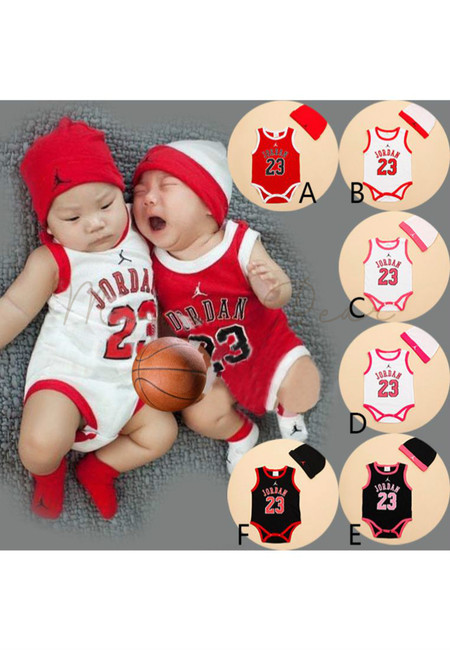 Jordan 23 Sleeveless Kids Bodysuit With Hat
