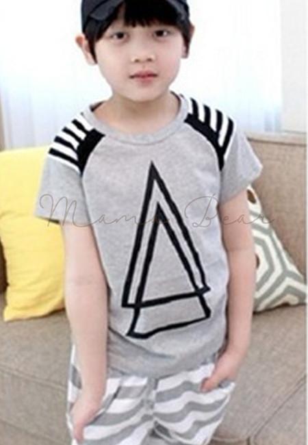 Kid Double Triangle Stripe Set