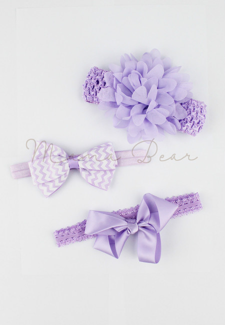 Chic Baby Accessory Set (Purple)