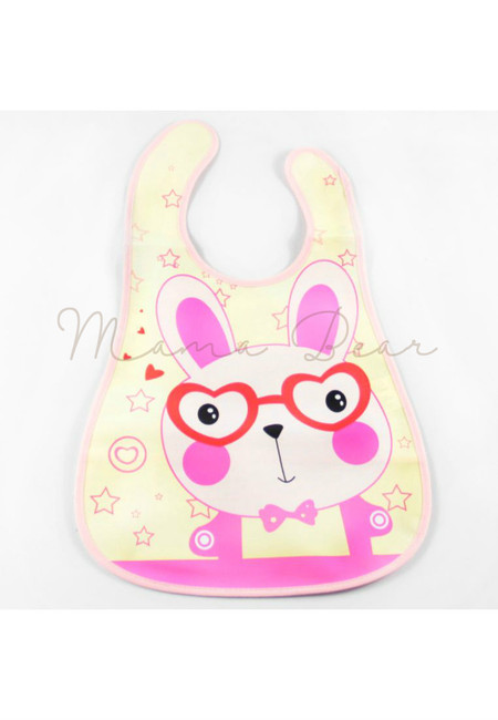 Nerd Rabbit Waterproof Baby Bib With Pocket