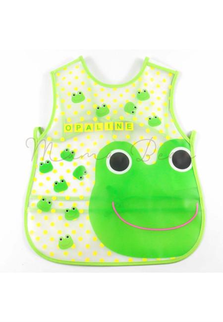 Adjustable Little Frog Waterproof Baby Bib With Pocket