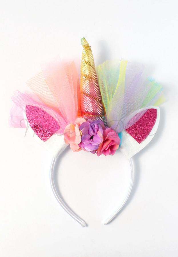 Unicorn Horn Metallic Glittery Kids Headband
