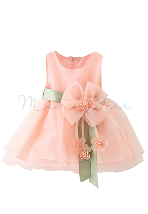 Lovely Chiffon With Bowtie Kids Dress