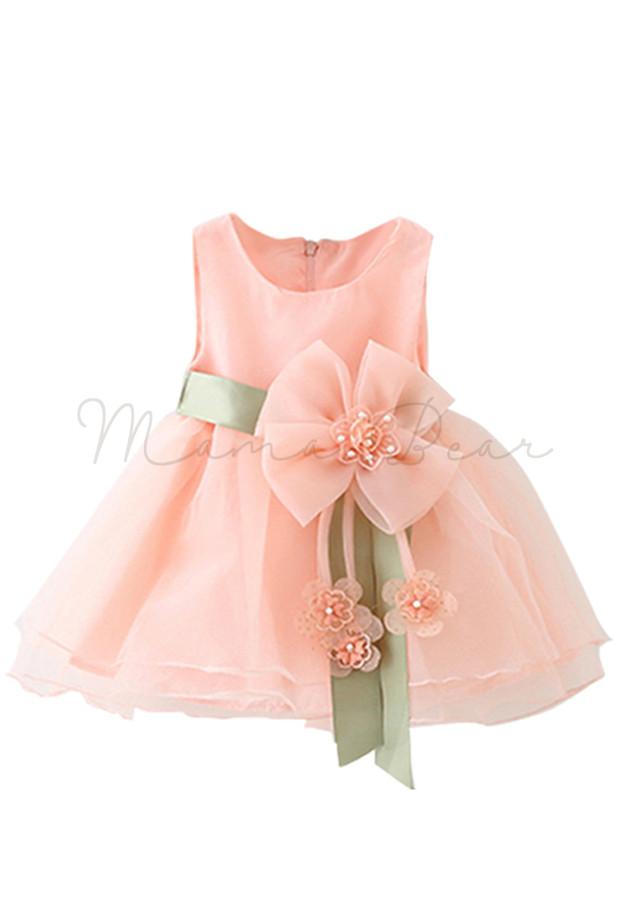 Lovely Chiffon With Bowtie Kids Dress