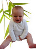 Bamboo and organic cotton baby onesie long sleeved natural