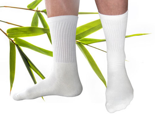 Bamboo Blend Crew Socks Natural
