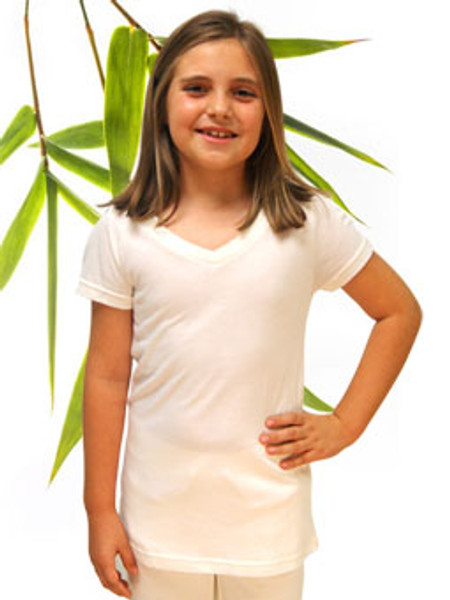 Girls Bamboo and Organic Cotton V-neck Tee shirt