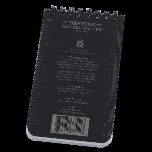 Back of Black Pocket Notebook