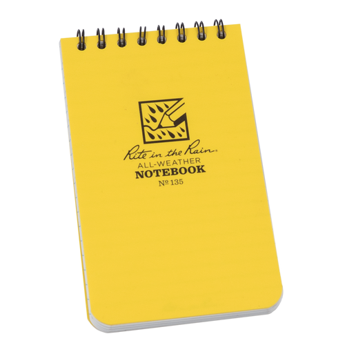 Front of Yellow Pocket Notebook