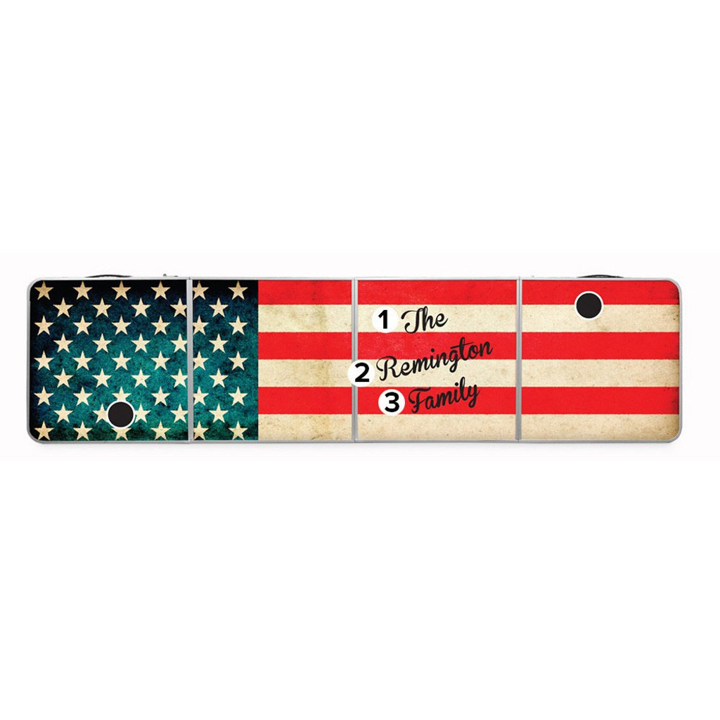 Custom Tailgate / Beer Pong Table - American Flag