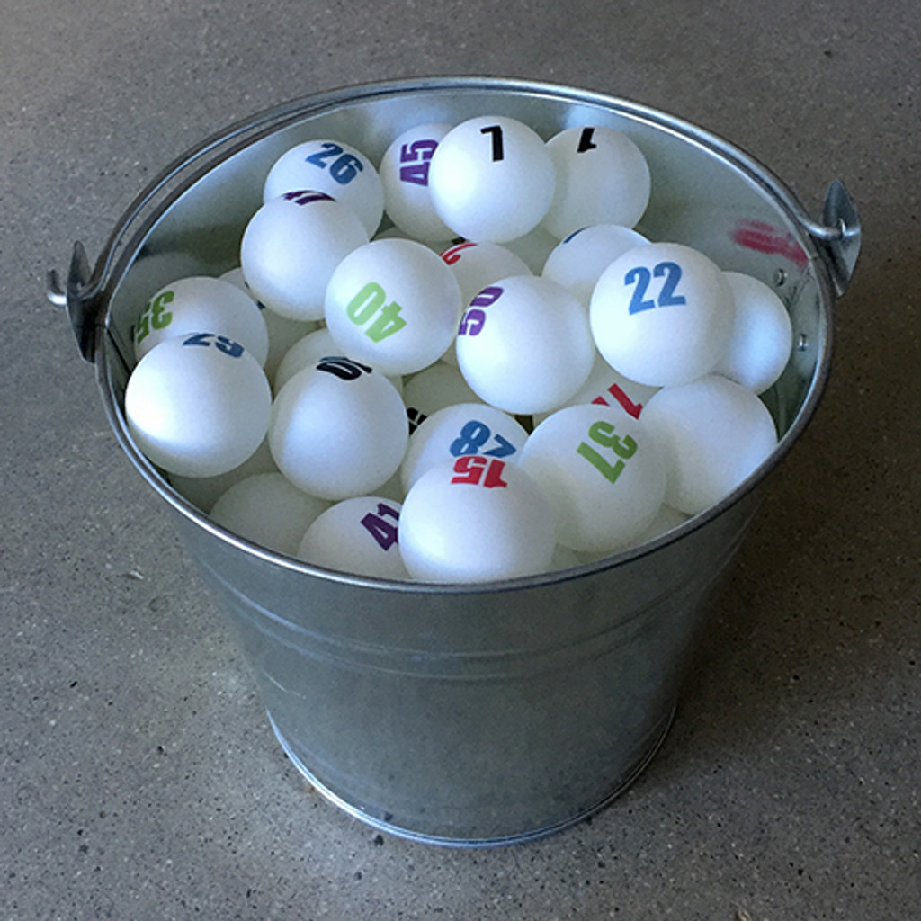 Set of 50 Individually Numbered White Ping Pong Balls