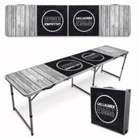 Custom Tailgate / Beer Pong Table - Beach Wood
