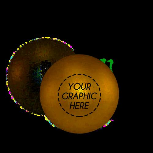 Custom Silver, Gold or Black Ping Pong Ball