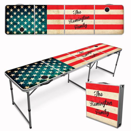 Custom Tailgate / Beer Pong Table - American Flag