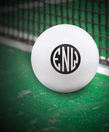 Custom White 50 mm Ping Pong Ball