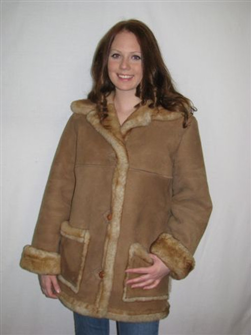 Sheepskin Coat Ladies 'Ms Kitty sheepskin coat' front
