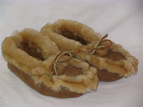 Sheepskin Bear Paw Slippers