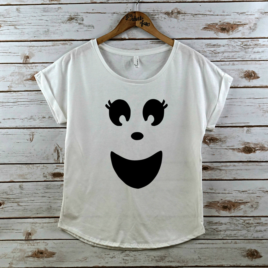 Ghost Face rolled sleeve dolman