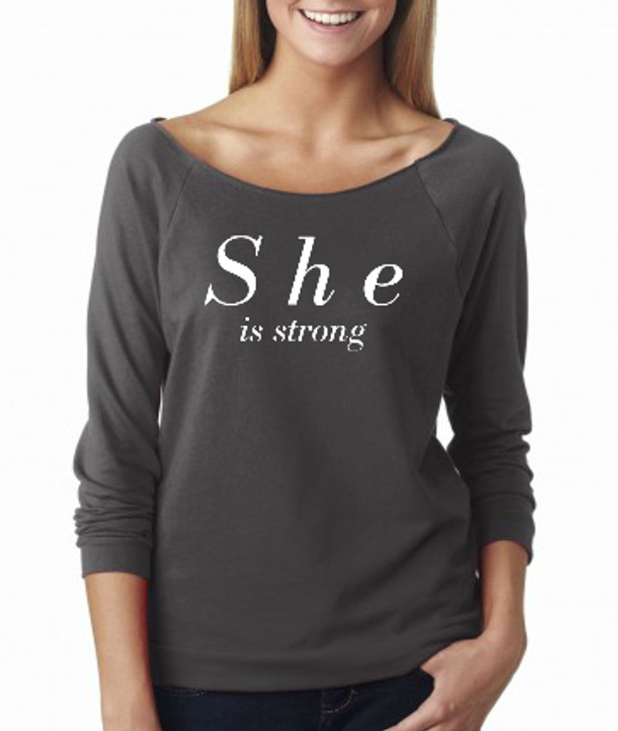 She is strong French Terry Raglan