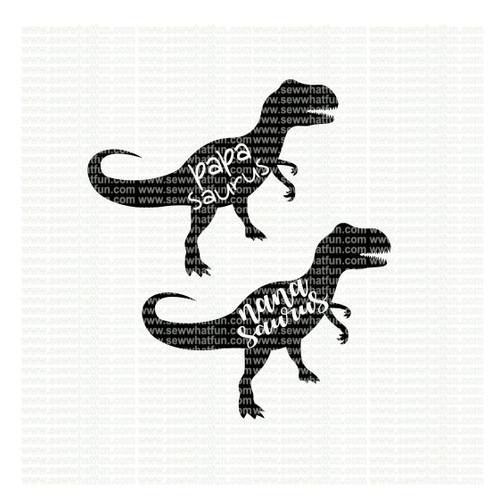 Nana Papa Dinosaur SVG