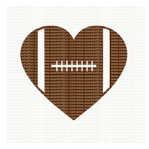 Football heart SVG