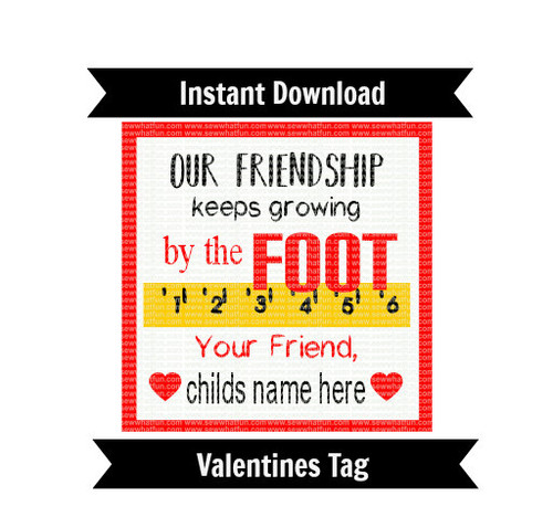 Fruit by the Foot Favor Tag Valentines Day