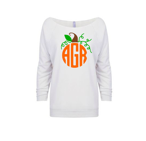 Monogram Pumpkin French Terry Raglan